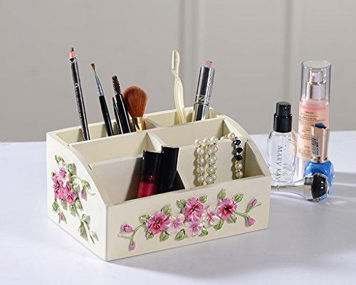 MMM De style européen Salon Café Bureau Table de bureau Boîte de rangement Creative Cosmetic Box