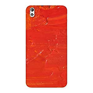 Orange Paint Back Case Cover for HTC Desire 816g