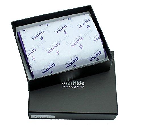 Signore progettista mini morbida borsa di cuoio della carta di credito portafoglio, identità & taschino scatola regalo da StarHide # 5545 Viola