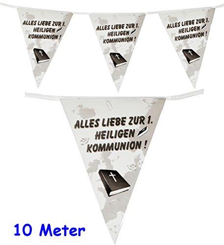 10,5 m _ Girlande / Wimpelkette -  Alles Liebe zur 1. heiligen Kommunion !  - Folie - WASSERFEST ! - Dekoration - Fest & Feier / Wimpeln - Party Deko Partyg..