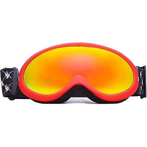 Benice? snow-2000profesional Gafas de esquí Fashion gafas de snowboard Nieve/Protección UV- Multicolor/doble lentes antiniebla máscara de esquí azul SNOW-2004