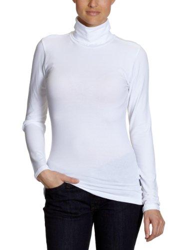 ONLY Damen Live Love Rollneck Langarmshirt  15046218, Gr. 36 (S), Weiß (WHITE) (Rollkragenpullover Damen)