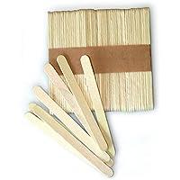 Silikomart Easy Cream Wooden Sticks for Ice Cream Bars, Set of 100, Beige, Silicone