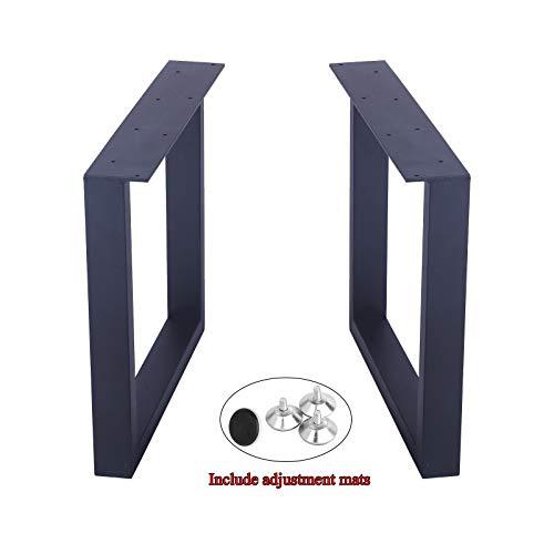MBQQ Möbelbeine 39,9 cm hoch, 44,5 cm breit, rustikale Dekorie, quadratische Tischbeine, robuste Metall-Beine, Esstischbeine und Moderne Tischbeine aus Gusseisen -
