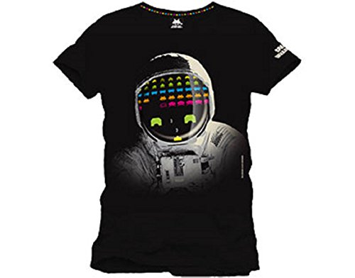 space-invaders-cosmonaute-t-shirt-officiel-homme-noir-medium