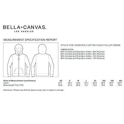 Bella+Canvas - Unisex Kapuzenjacke mit Kontrast Reißverschluss Marble Fleece Red