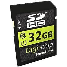 Digi-Chip–32GB 32GB UHS-1Class 10SD SDHC Tarjeta de memoria para Fujifilm X30, Fuji X100T, FinePix S9900W, S9800, XP80, XQ2, X-T10, XA2& Fuji X-T1