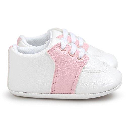BZLine® Baby Kleinkind Weiche Sohle Schuhe Krippeschuhe Anti-Rutsch Sneaker Pink