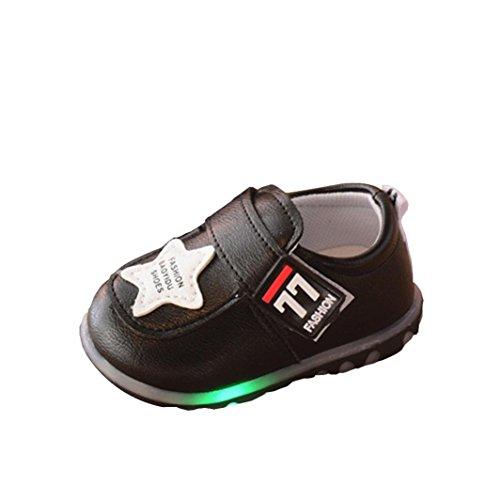 Baby Schuhe mit Licht, FNKDOR Kleinkind Jungen Mädchen Rutschfest Lauflernschuhe Sneaker mit LED, 0-3 Jahre (12-18 Monate, (Mit Licht Kinder Schuhe)