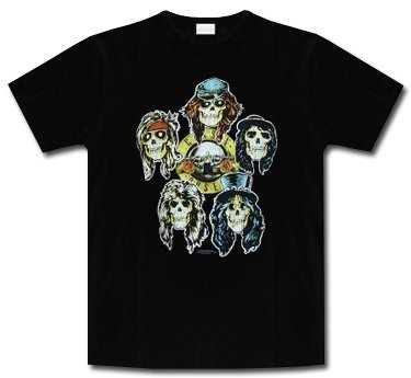 Guns n Roses * Vintage Skulls * Shirt * XL * Maglietta Originale *