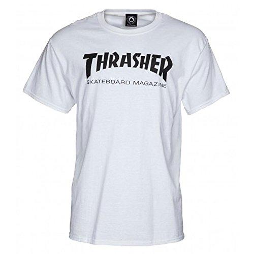 Thrasher skateboard magazine t-shirt bianco, white