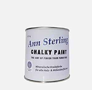 ann sterling kreidefarbe shabby chic farbe chalky white wei 0 5kg lack chalky paint amazon. Black Bedroom Furniture Sets. Home Design Ideas