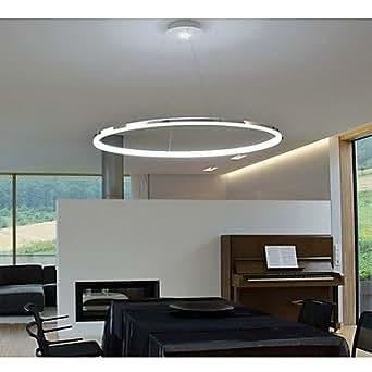 vie pendentif au design moderne lumière LED anneau