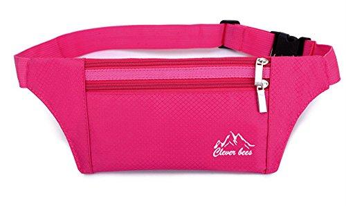 5 All Sling-Rucksack Sling Bag Chest Pack Taschen HANDY Tasche Outdoor Sports Camouflage Trekkingrucksack als Radfahr Jogging-Rucksack Kettle Paket Rosa C