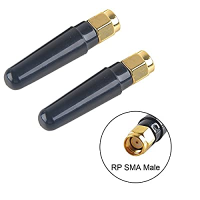 2pcs 2.4G 5.8G FPV TX Antenna RP-SMA Male Dipole Whip FPV Antenna for Racing Drone Quadcopter