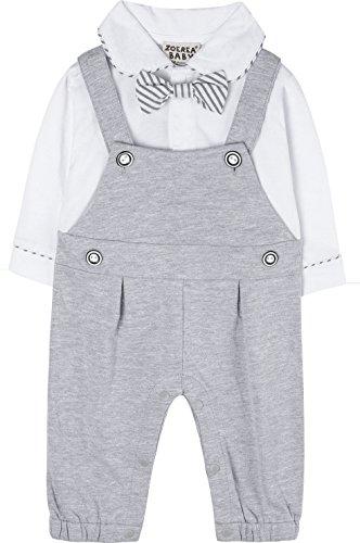 ZOEREA 1PC Baby Junge Strampler Lange Ärmel Kleidung Baumwolle für Frühling Sommer Taufe Hochzeitsfeier (Baby-taufe-kleidung)