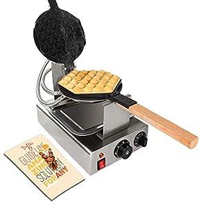 BananaB 220V 1400W Bubble Waffle Maker 30pcs Egg Waffle Maker Professional...
