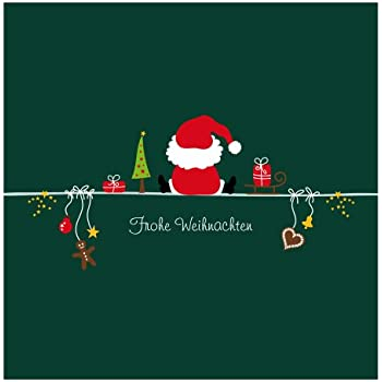 10er pack geschenkkarten frohe weihnachten weihnachtsmann. Black Bedroom Furniture Sets. Home Design Ideas