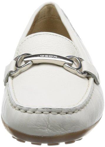 Geox D Euro A, Mocassins femme Blanc (Optic White)