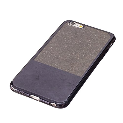 Phone case & Hülle Für iPhone 6 Plus / 6s Plus, Galvanisierungsspiegel TPU Schutzhülle ( Color : Gold ) Black