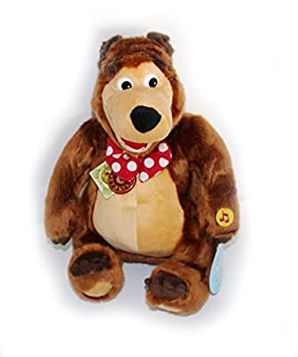 35cm Bär aus Mascha und der Bär / lacht lustig / Medved von Masha i medved / Kuscheltier, Plüschbär, Stofftier