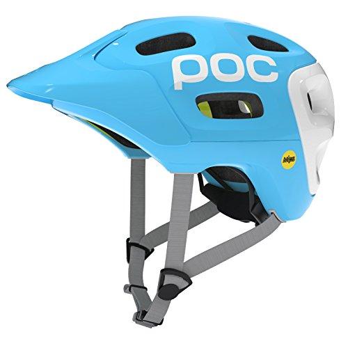 POC Trabec Race MIPS - Casco MTB para hombre, color azul, talla M-L
