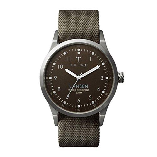Triwa Canvas Partisan Lansen Wrist Watch (Army Green)