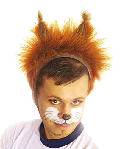 Faschingskostüm Eichhörnchen Mütze mit Ohren Kappe Hut Eichhörnchen Karneval Kostüme für Kinder älter als 9 Jahre, Herren Männer Frauen Festtage Größe L/XL Geschenk