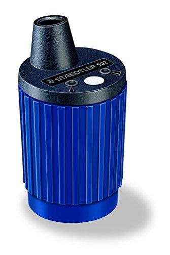 Staedtler Mars Minen-Spitzer 502 Minenspitzdose für 2 mm Minen, Metall-Minenfräser, automatischer Spitzstop, Messvorrichtung zur Spitzkonus-Einstellung, integrierter Staubabstreifer