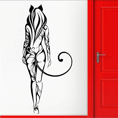 Cmhai decalcomania del vinile bella ragazza fata fantasia pattern tattoo home decor art decor rimovibile wall decor cartoon wall sticker 39 * 85 cm