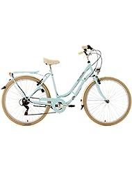 KS Cycling Damen Fahrrad Casino Hellblau 6 Gänge RH 54 cm, Blau, 28, 952B