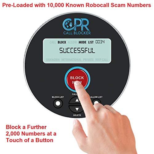 CPR V10000 Eccellente - Blocca chiamate indesiderate per telefono fisso - 'STOP alle chiamate importune! »- capacità di blocco: 10000 numeri!