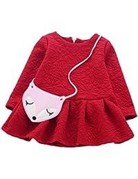 MYQyiyi vestido de Dulce niñas Falda princesa manga larga otoño invierno