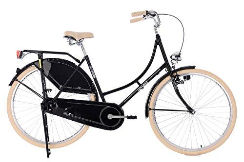 KS Cycling Damen Hollandrad Tussaud Singlespeed RH 53 cm Fahrrad, schwarz, 28