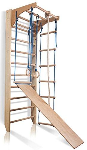 Sprossenwand Kletterwand Kombi-3-220 Turnwand Fitness Sportgerät Klettergerüst Holz