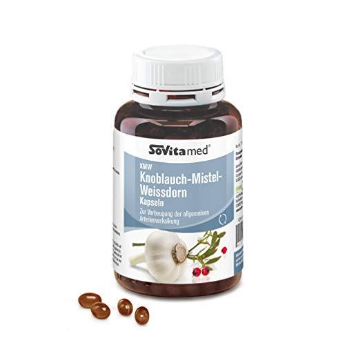 KMW Knoblauch-Mistel- Weissdorn Kapseln | Arzneimittel | Herz - Kreislauf | 400 Kapseln