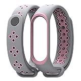 BZLine® für Xiaomi mi Band 3 Smart Armband Fitness Tracker, Dauerhaftes Ersatz TPU Anti-Aus-Armband Sport Armband für Xiaomi Mi Band 3 (G)