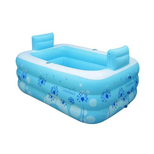 WTSW Faltende Badewanne Erhöhen Sie die Verdickung der erwachsenen Bad Blase Kunststoff Badewanne Aufblasbare Badewanne, Badfass