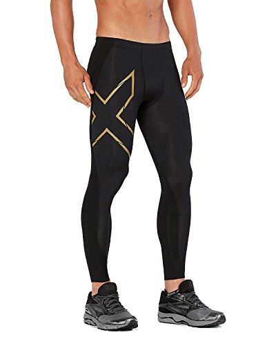 2XU MCS All Sports Comp Collants Homme, Noir/doré, M