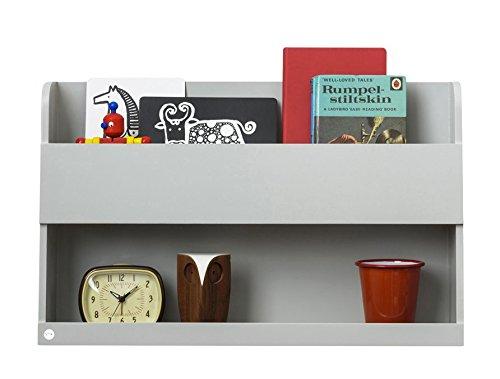 Tidy Books ® - Hochbett Kinder Regal Bunk Bed Buddy™ | Hellgrau | Wandregal Kinderbett aus Holz | Bücherregal KInderzimmer | 33 x 53 x 12 cm | Handgefertigt | Nachhaltig | Das Original seit 2004