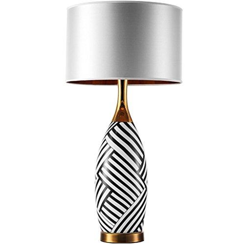 Schreibtischlampe Keramik Tischlampe Zebra Muster Schlafzimmer  Nachttischlampe American Desk Light Nachttischlampe