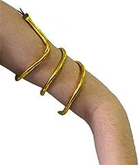 Idea Regalo - AEC–ac0407–Bracciale egizio Serpente Dorato