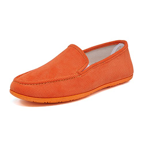 Gute Skateboard-schuhe (Männer Derby Schuhe Herbst Und Winter Mode Studenten Casual Oxford Schuhe Segeltuchschuhe Sportschuhe,Orange-25.5(cm)=10.03(in)=EU40=UK6.5)