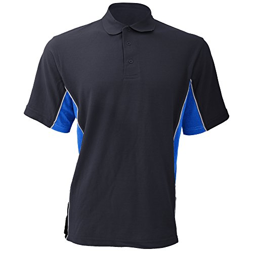 Gamegear Cooltex Active Herren Polo-Shirt, Kurzarm Marineblau/Hellblau/Weiß