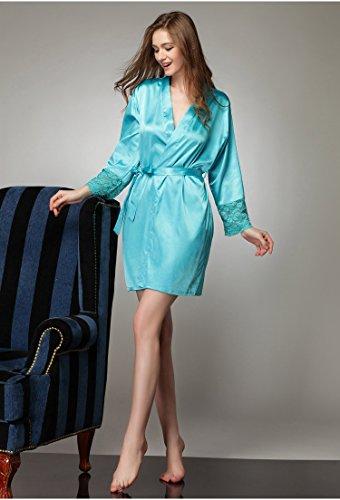 Tonwhar - Robe de chambre - Femme Multicolore - Bleu clair
