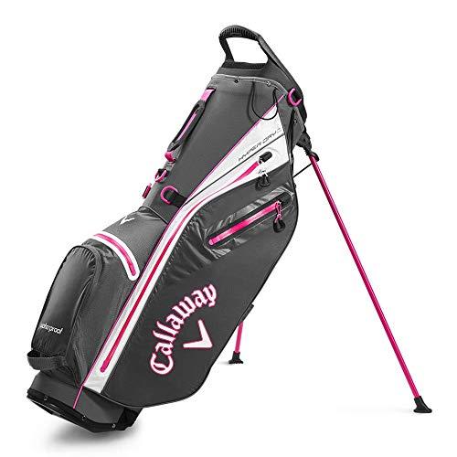 Callaway Golf Hyper Dry C Stand Bag Anthrazit/Weiß/Pink, Einheitsgröße