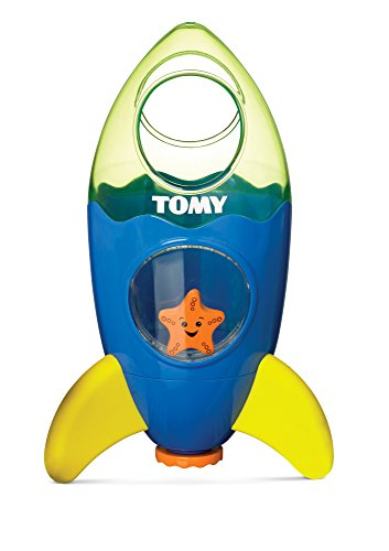 Tomy Wasserspielzeug Raketenfontäne mehrfarbig - hochwertiges Kinderspielzeug für großen Badespaß für Kinder - ab 12 Monate