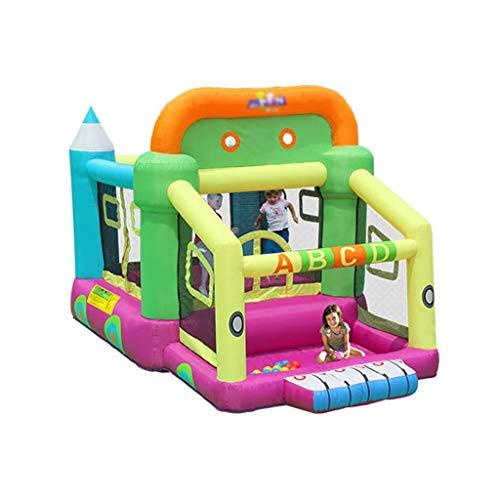 Bouncy Castles Inflatable Castle Outdoor Game House Entertainment Trampoline Cartoon Children's Slide Large Toy Room (Color : Color, Size : 350 * 225 * 220cm)