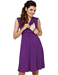 Zeta Ville - Premamá Vestido de Lactancia Efecto 2 en 1 Capa - para Mujer - afd61554be23