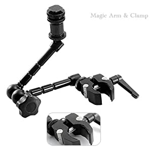 Feelworld Magic Arm and Clamp for DSLR Cameras / Monitors (11 Inch)